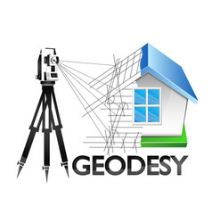 geodesy symbol for surveyor vector image