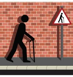 old pedestrian vector image vector image