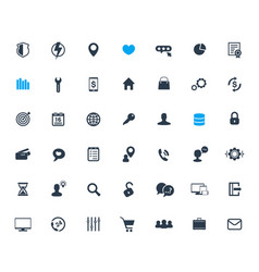 42 icons set for web design apps and infographics vector
