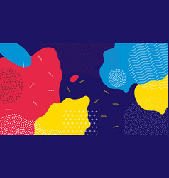 Abstract pop art liquid color pattern background vector