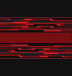 Abstract red grey cyber circuit pattern banner vector