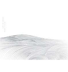 abstract white background with soft wave line vector image