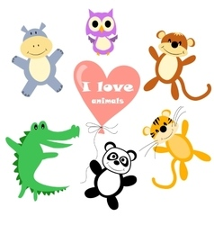 animals for kids vector image