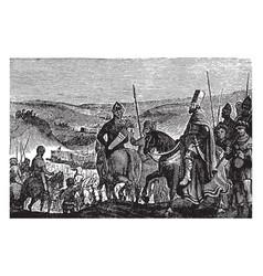 Army of king nebuchadnezzar vintage vector