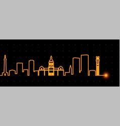 baltimore light streak skyline vector image