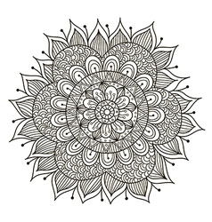 Beautiful Deco Floral mandala vector image