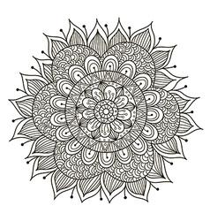 Beautiful Deco Floral mandala vector