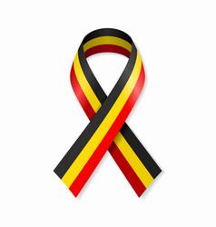 belgian flag stripe ribbon on white background vector image