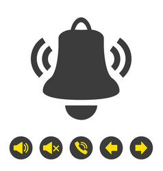 bell icon on white background vector image