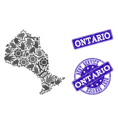Best service composition of map of ontario vector