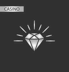 black and white style diamond symbol vector image