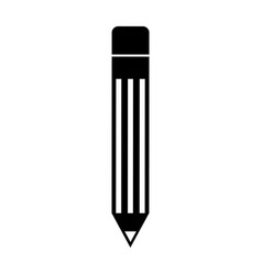 black icon pencil cartoon vector image