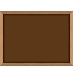 Blackboard Brown with frame in wood texture Chalk vector