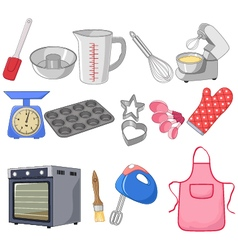 Cartoon collection for the baking vector