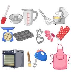Cartoon collection for the baking vector