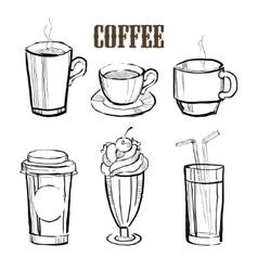 Coffee Handdrawn Set vector image vector image