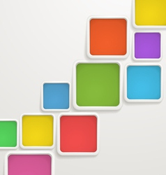 Color blocks vector image