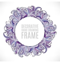 Colorful abstract hand-drawn round pattern grass vector