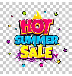 Comic text advertise glosssy summer sale vector