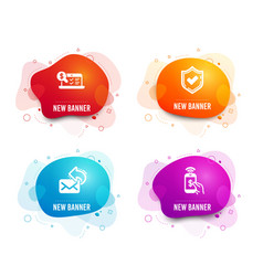 Confirmed share mail and online accounting icons vector