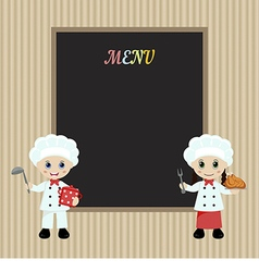 Cooking chefs vector