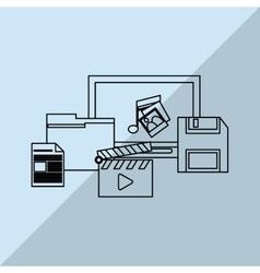 Data center and laptop design vector