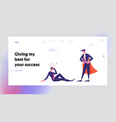 Dont give up never stop trying website landing vector