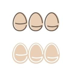 Egg Shape Logo Set Minimalism Style Logotype vector image
