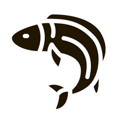fish icon glyph vector image