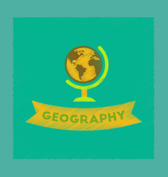 flat shading style icon geography lesson vector image