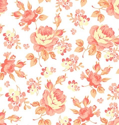Floral pattern with orange roses vector image