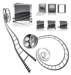 frames with film strips vector image