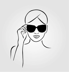 girl wearing sunglasses vector image