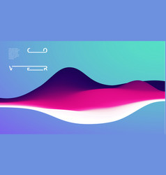 gradient wave abstract background presentation vector image