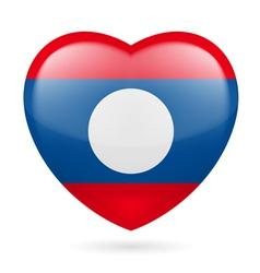 Heart icon of Laos vector image