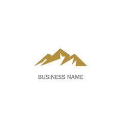 high mountain logo vector image
