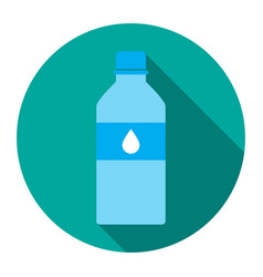 icon bottles of water in a flat vector image