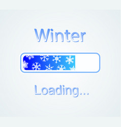 inscription loading winter concept vector image