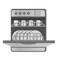 Kitchen dishwasher icon cartoon style vector