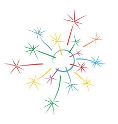 Logo of color dandelion vector