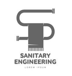 logo water gas engineering plumbing vector image