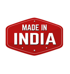 Made in india label or sticker vector