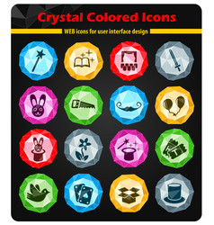 magic icon set vector image