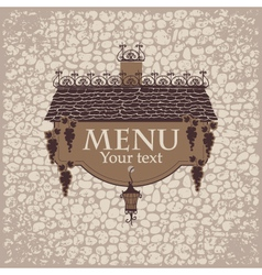 menu with the old roof vector image