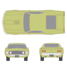 mustang car vector image