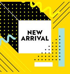 New arrival banner for social media marketing vector
