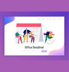 Office business manager work overtime at deadline vector