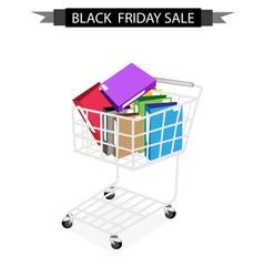Office Folder in Black Friday Shopping Cart vector image