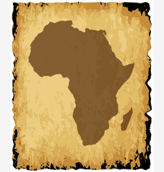 old african map vector image