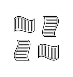 Paper icon graphic design template simple vector